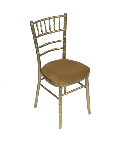 Aluguer Cadeira Tiffany c Coxim Dourado Alugar Eventos. Magnezya Event Support