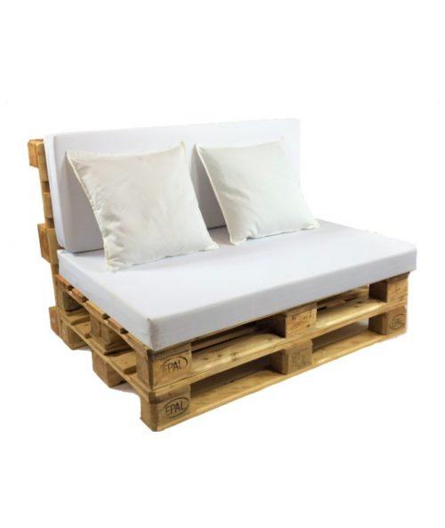 Aluguer Sofá Palete Almofadas Brancas I Magnezya Event Support