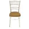 Aluguer Cadeira Chiavari Decapé com Coxim Dourado Alugar Eventos. Magnezya Event Support