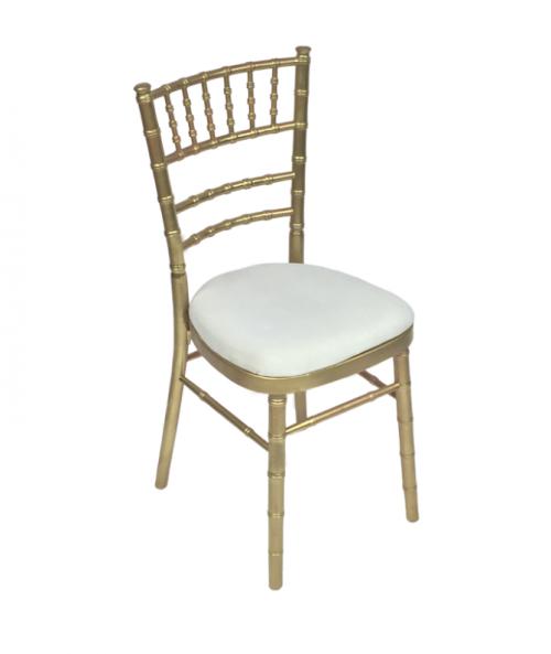 Aluguer Cadeira Tiffany c Coxim Cru Alugar Eventos. Magnezya Event Support
