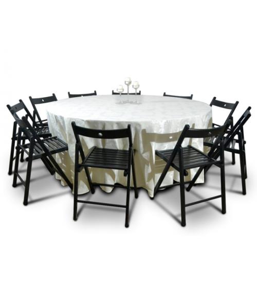 Aluguer Mesa Redonda c Camilha Champanhe e Cadeiras Dobráveis Alugar Eventos. Magnezya Event Support