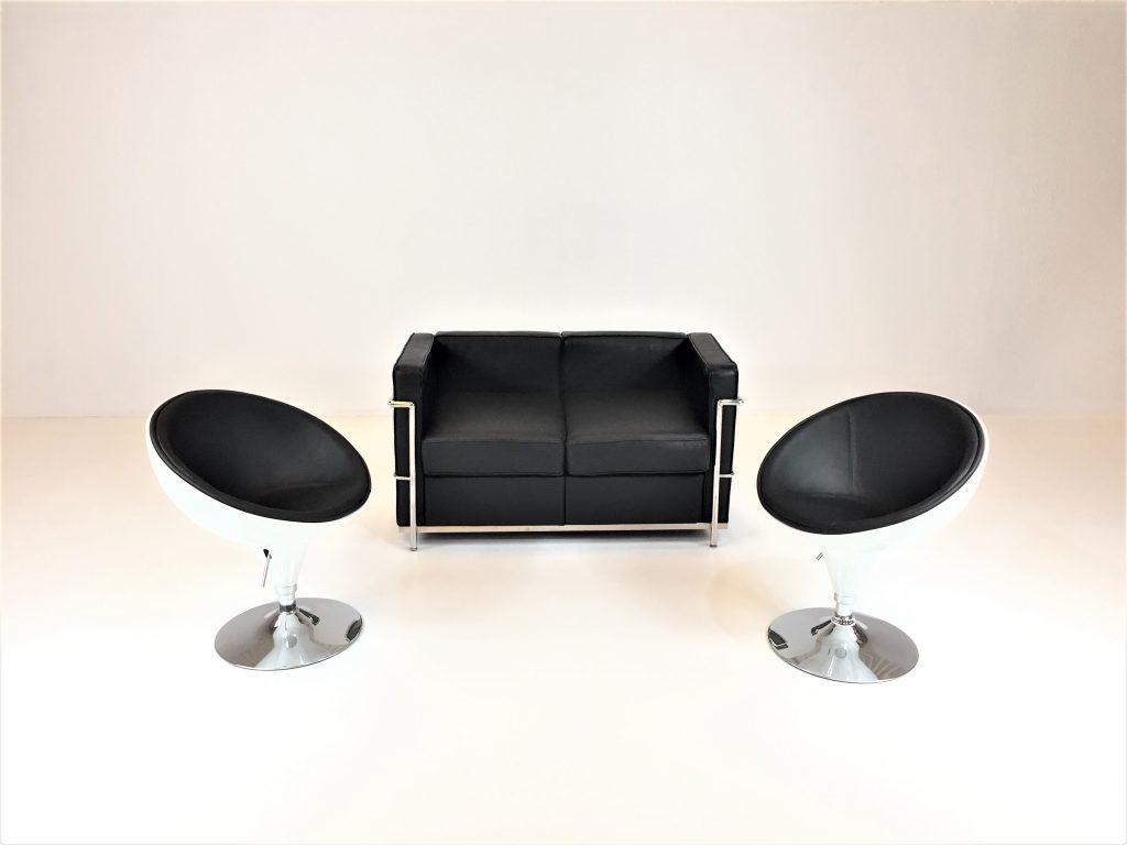 Aluguer Set. Sofá Vintage e Cadeirão Lounge. Magnezya Event Support